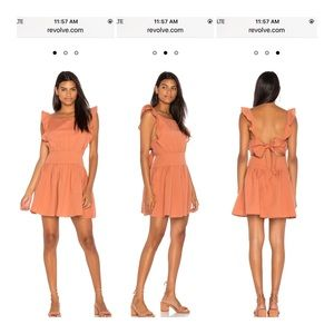 Free People Erin Bronze Orange Ruffle Dress Sz M